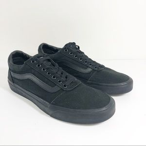 Vans Old Skool All Black Classic Sneaker Shoes 9.5